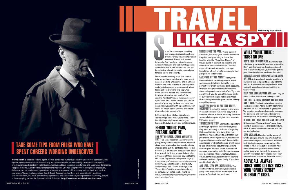 Travel Like a Spy - Published by Skillset Magazine