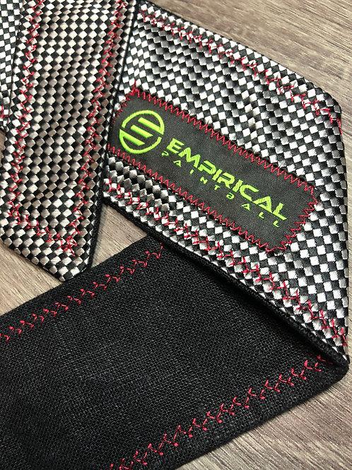 Empirical Paintball - Diamond Black Headband - Red Stitching Main