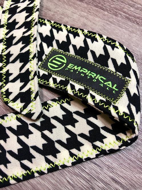 Houndstooth Headband - Lime Stitching