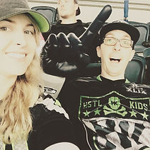 Mark and Ashleigh at Seattle Seahawks Game