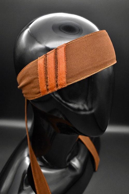 Prototype - Brown Leather Stripes Headband