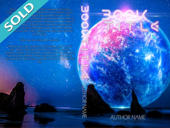 SciFi Moon Pre-Made Cover