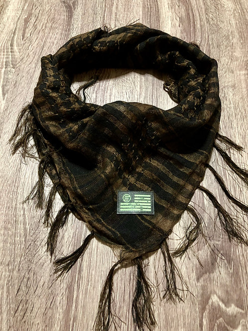 Empirical Paintball - Brown and Black - Shawl Scarf