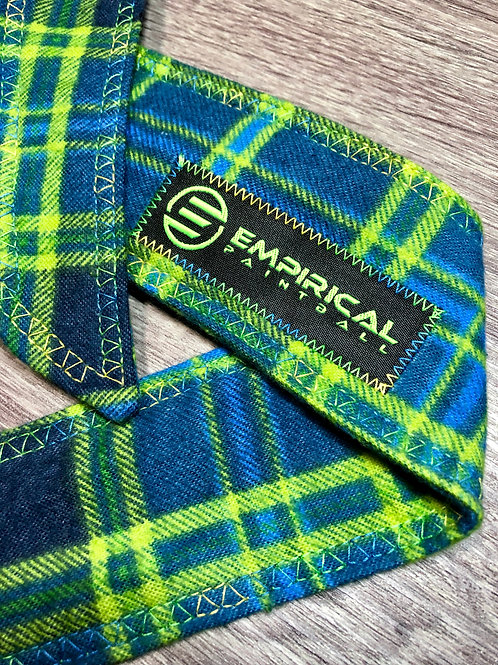 Blue & Lime Plaiditude Headband - Blue & Lime Stitching