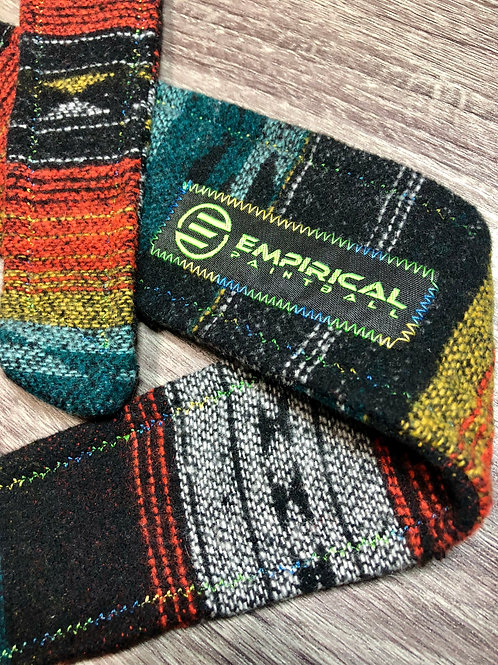 Empirical Paintball - Aztec Orange Sweater Headband - Blue/Green Stitching - Main