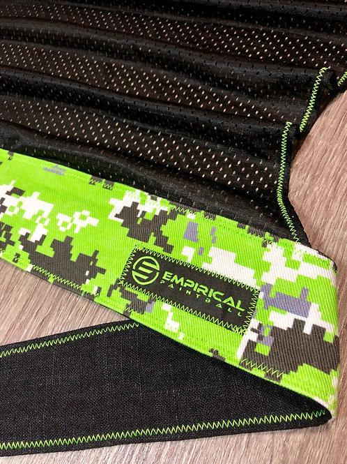 Zombie Green Digital Camo Headwrap - Green Stitching