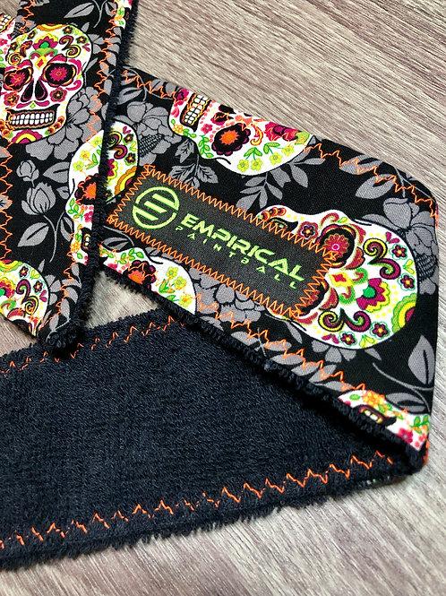 Sugar Skulls Legend Headband - Electric Orange Stitching