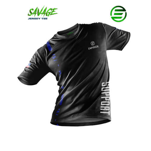 Thin Blue Line Support - Savage Jersey Tee