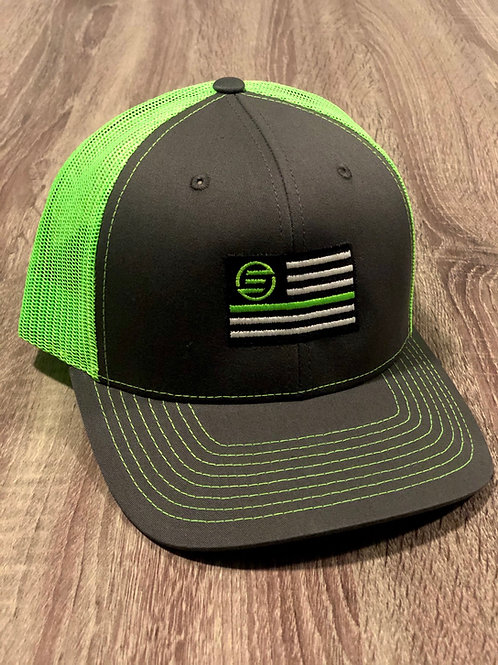 Lime Green & Gray Richardson Snapback
