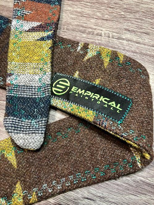 Empirical Paintball - Aztec Rust Sweater Headband - Aqua Fade Stitching - Main