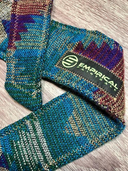 Empirical Paintball - Aztec Blue Sweater Headband - Gold Stitching Main