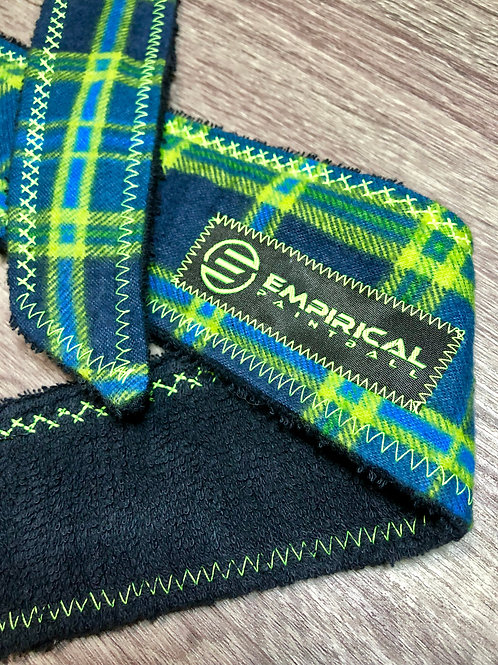 Blue & Lime Plaiditude Legend Headband - Lime Stitching
