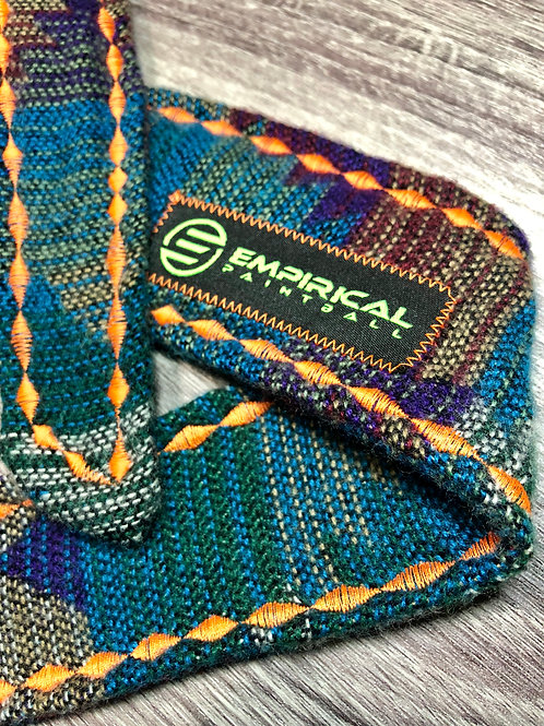 Empirical Paintball - Aztec Blue Sweater Headband - Orange Stitching - Main