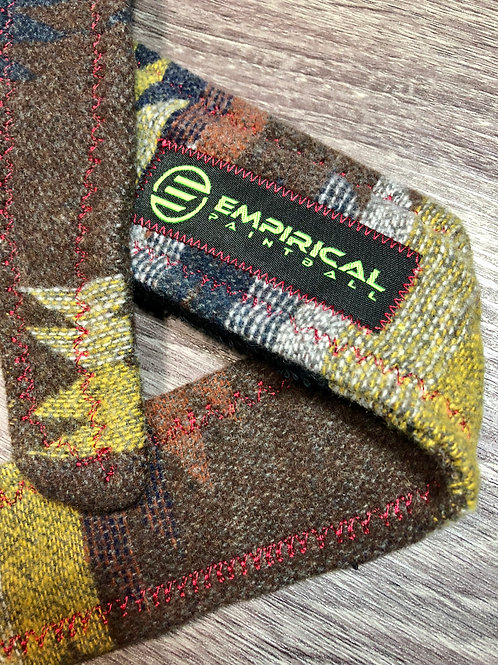 Empirical Paintball - Aztec Rust Sweater Headband - Red Stitching - Main