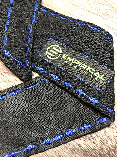 Empirical Paintball - Black & Typhon Camouflage Headband - Blue Stitching Main