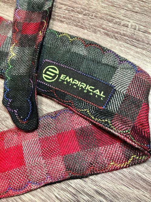Empirical Paintball - Red Soft Plaid Headband - 🌈 Rainbow Stitching - Main