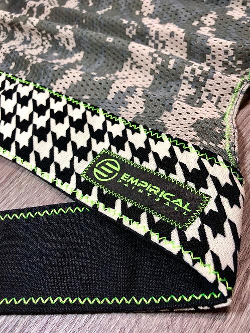 Houndstooth Headwrap - Neon Stitching
