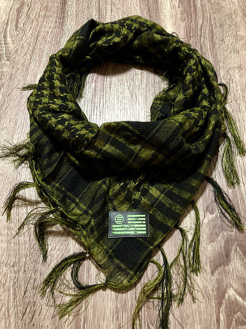 Empirical Paintball - Olive and Black - Shawl Scarf