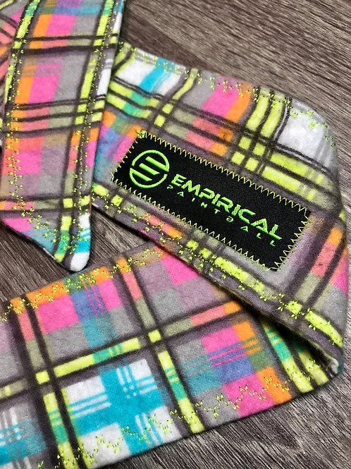 Empirical Paintball - Bright Plaid Ice Headband - Green Stitching Main