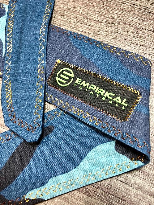 Blue Camo Headband - Copper Fade Stitching