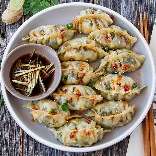 Spicy chicken and lemon grass dumplings