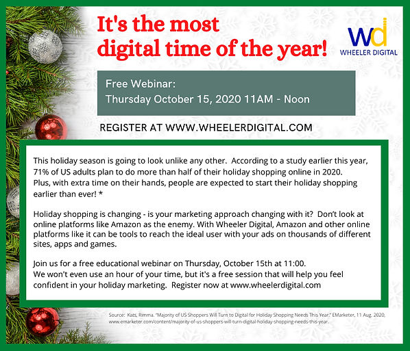 Wheeler Digital - Holiday Shopping is Go