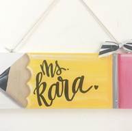 Plank Hanging Pencil Sign - $35