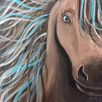 Horse with Blue Hair