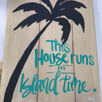 Plank Plam tree sign - $50