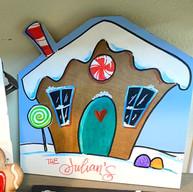 Gingerbread sign / shelf-sitter