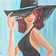 Lady in the Black Hat