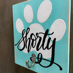 Paw Print Pet leash hanger - $35