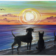 'Paws at Sunset'