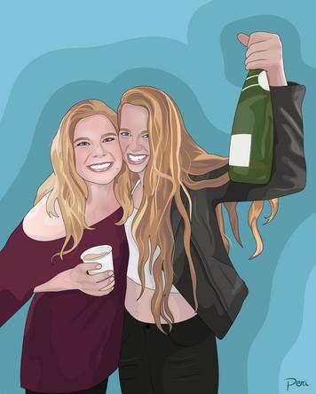 Commissed 21st Birthday Portrait-- Adobe Illustrator