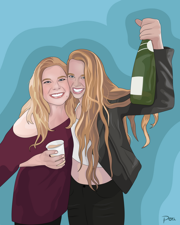 Commissed 21st Birthday Portrait-- Adobe Illustrator