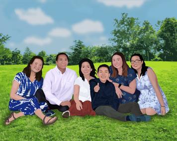 Commissioned Family Portrait-- Adobe Illustrator