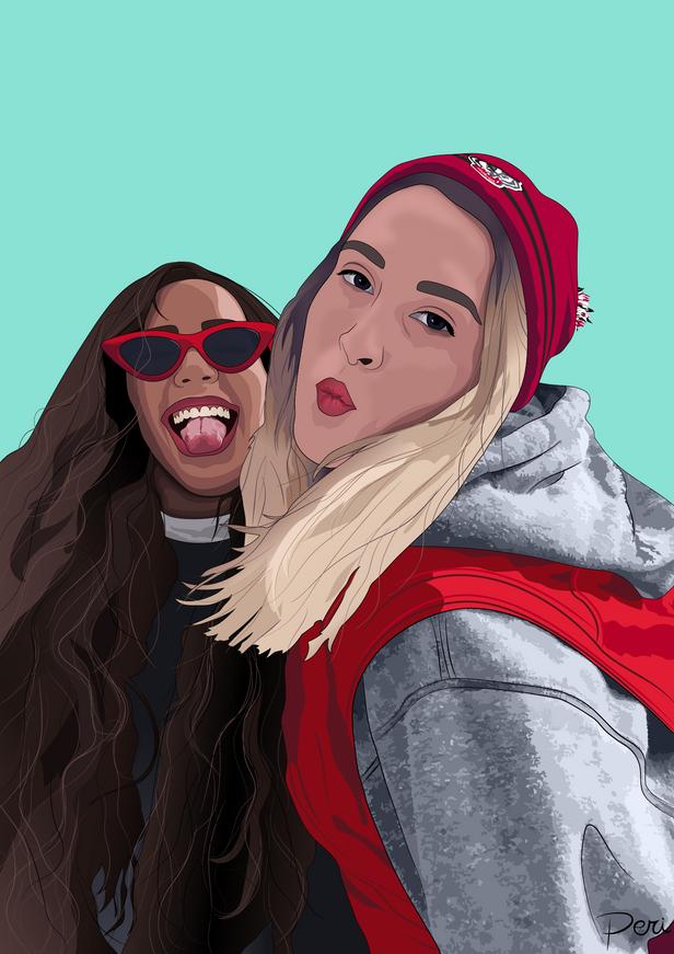 Commissioned Selfie-- Adobe Illustrator