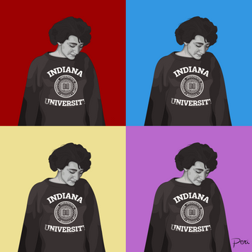 Commissioned Andy Warhol Style Graphic of Grandmother from 1956-- Adobe Illustrator