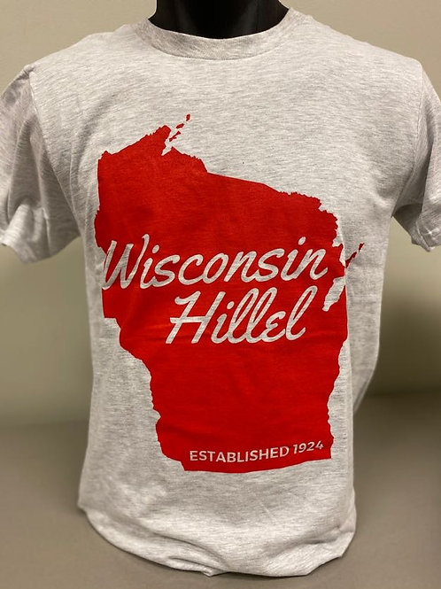 Wisconsin Hillel with State of Wisconsin Short Sleeve