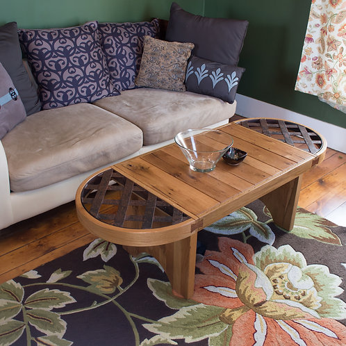 Barn Timber and Steel Coffee Table.