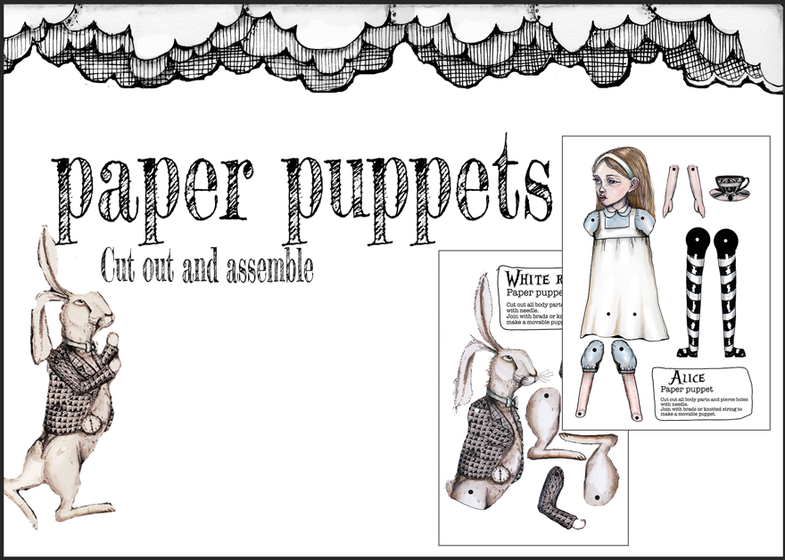 Paper puppets by Jenny Wood