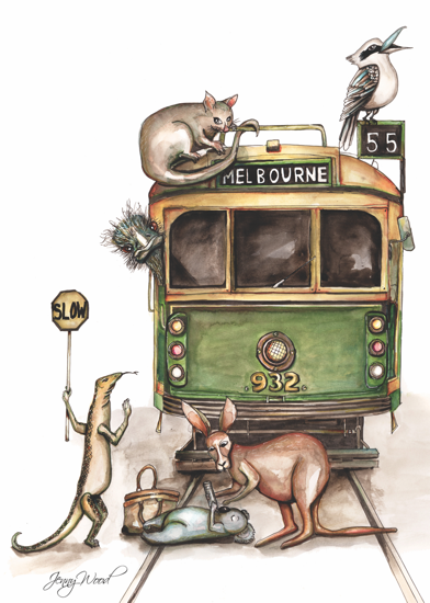 Melbourne tram print
