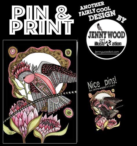 Galah pin and A4 print $18