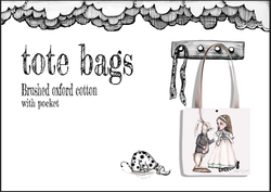 Tote bags by Jenny Wood