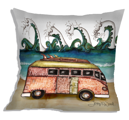 Mornington Peninsula Kombi cushion covers