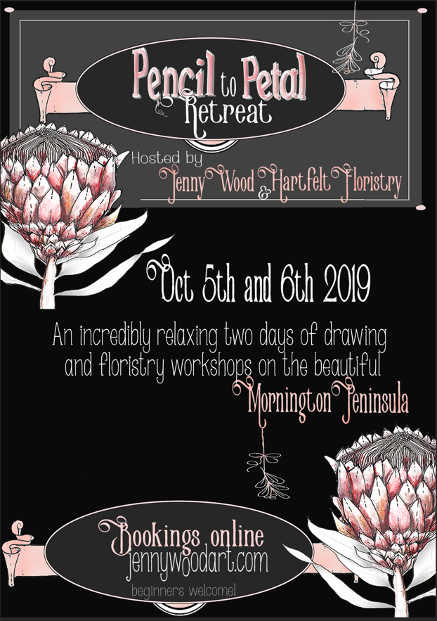 Pencil to Petal retreat bookings now open!