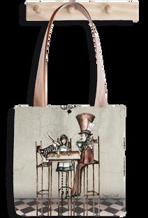 Alice tea party tote bag