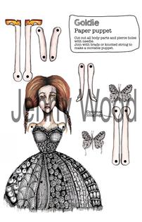 Goldie Paper puppet