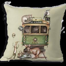 Melbourne tram cushion cover