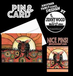 Kangaroo pin and card $12